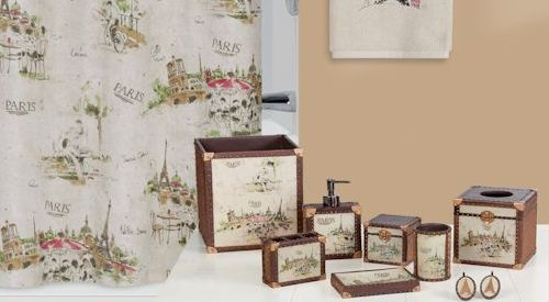 I Love Paris Shower Curtain and Bath Accessories by Creative Bath